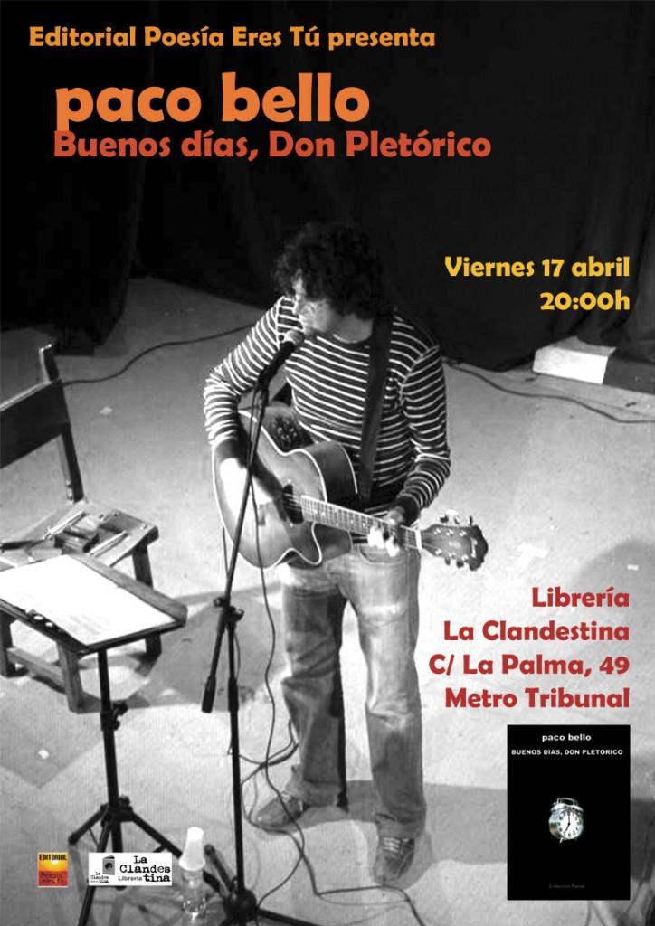 pacobello2 17 de Abril. Paco Bello, en la libreria La Clandestina - pacobello2 724x1024 - 17 de Abril. Paco Bello, en la libreria La Clandestina