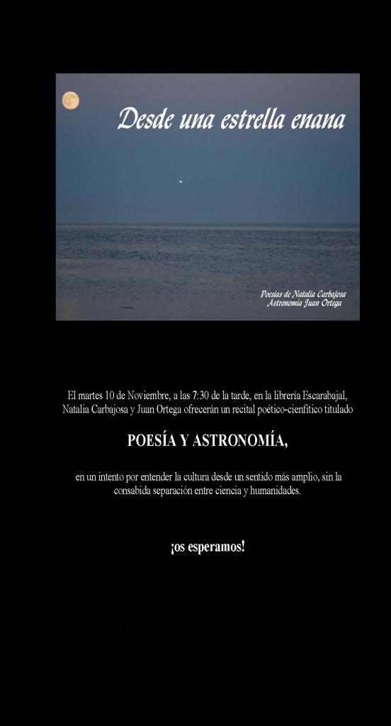 cartel2 Recital poesía y astronomía: Natalia Carbajosa y Juan Ortega Recital poesía y astronomía: Natalia Carbajosa y Juan Ortega cartel2 552x1024
