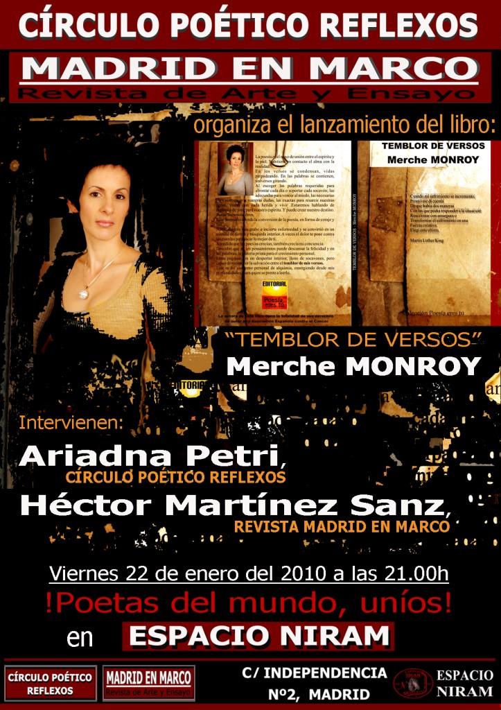 Presentación: Temblor de versos - Merche Monroy - Monroy Cartel WEB 723x1024 - Presentación: Temblor de versos – Merche Monroy