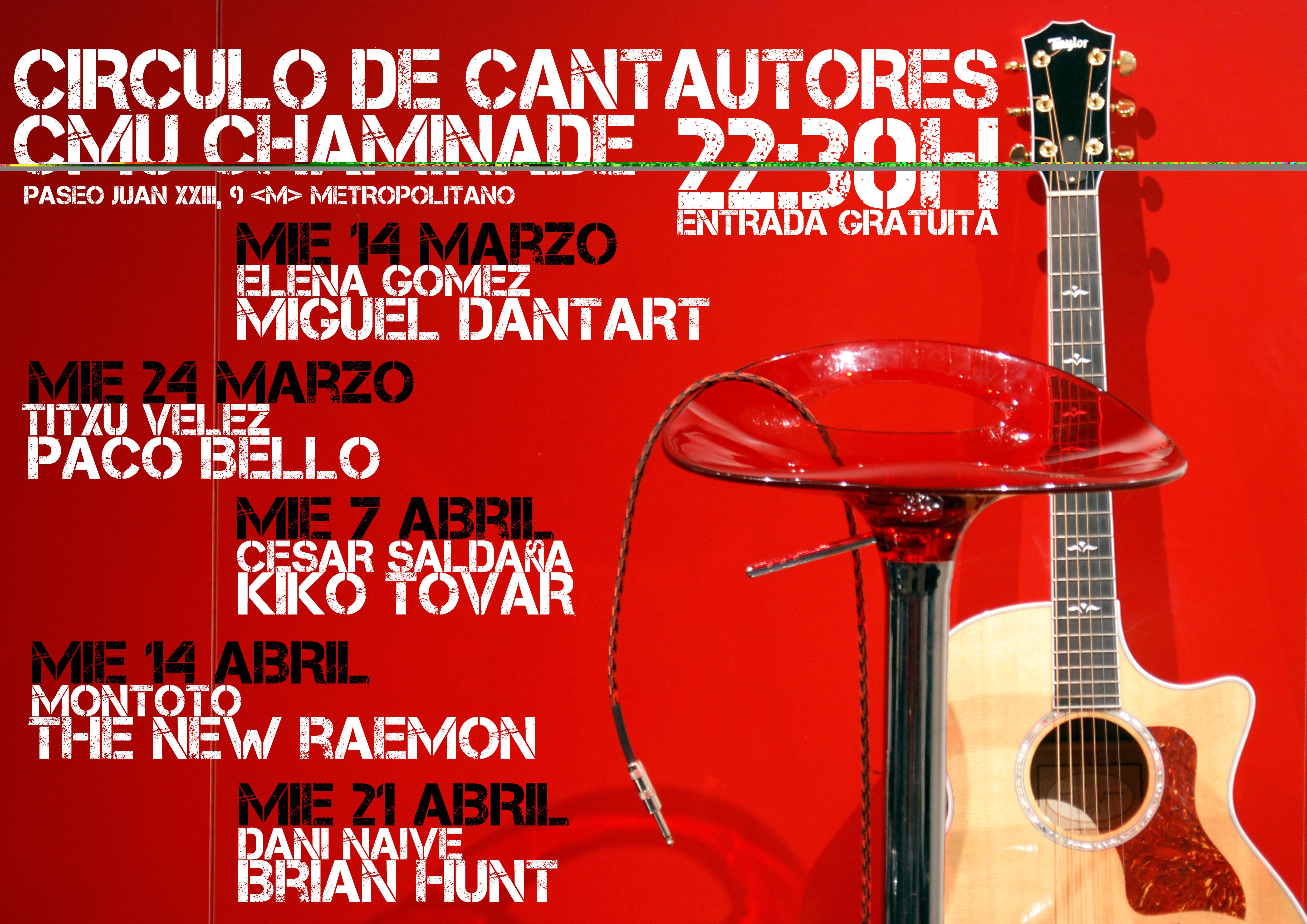 CIRCULO DE CANTAUTORES - CMU CHAMADE CIRCULO DE CANTAUTORES – CMU CHAMADE CartelCantautores01