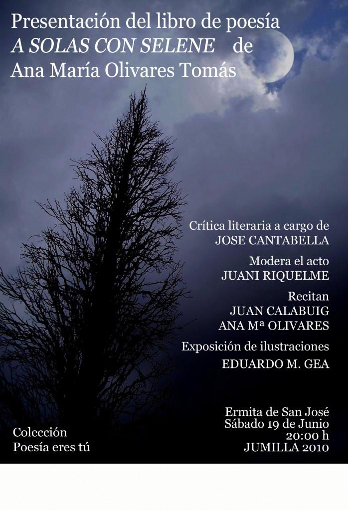 Presentación A SOLAS CON SELENE - Ana Maria OLIVARES - cartel correguido 698x1023 - Presentación A SOLAS CON SELENE – Ana Maria OLIVARES