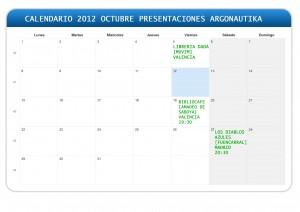 CALENDARIO PRESENTACIONES ARGONAUTIKA CALENDARIO PRESENTACIONES ARGONAUTIKA ARGONAUTIKA PRESENTACIONES OCTUBRE 2012 300x212