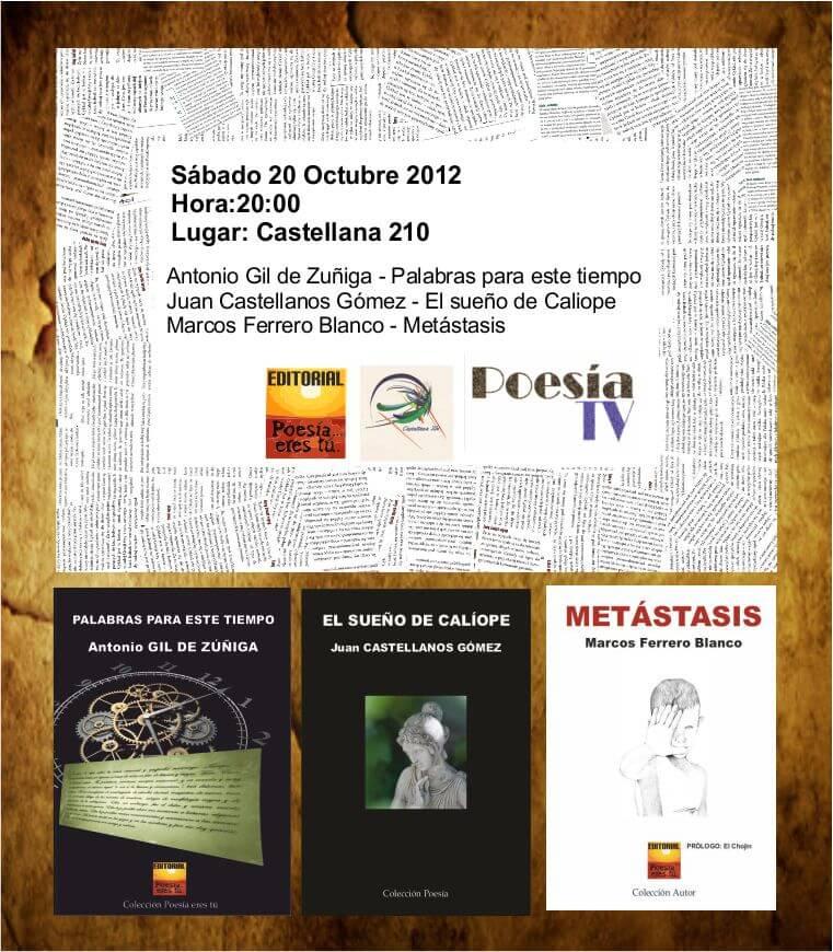 Recital 20 de Octubre de 2012 Recital 20 de Octubre de 2012 Cartel20 10 2012 revista de poesía Revista de poesía. Revista Poesía eres tú. Cartel20 10 2012
