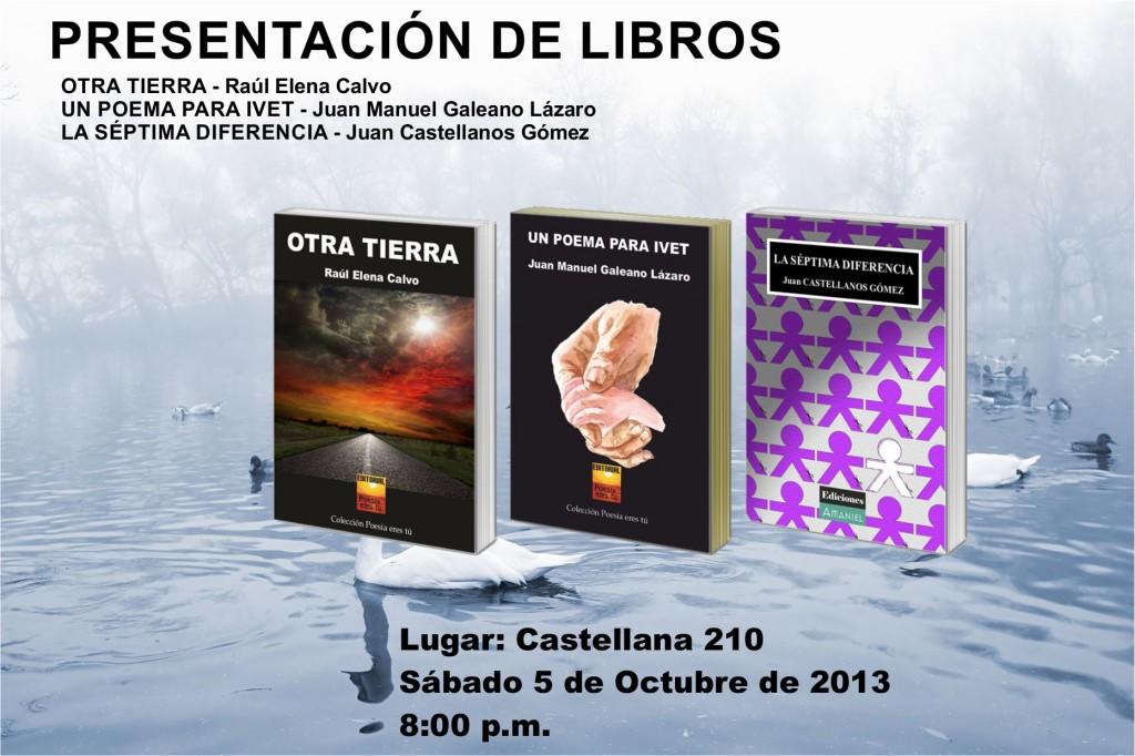 Video anuncio: Presentaciones de libros día 4 de Octubre Video anuncio: Presentaciones de libros día 4 de Octubre Cartel5deOctubre2013 1024x682