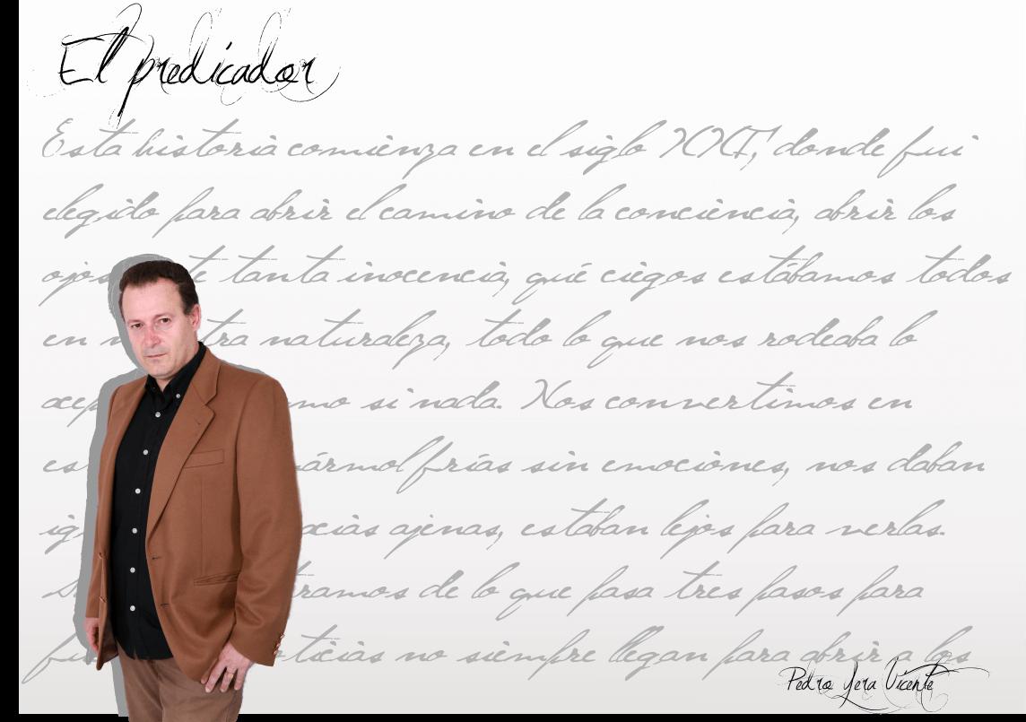 """Pedro Yera Vicente: """"Me gusta escribir y me aporta calma y serenidad…"""" Pedro Yera Vicente: """"Me gusta escribir y me aporta calma y serenidad…"""" Fichaautor"""