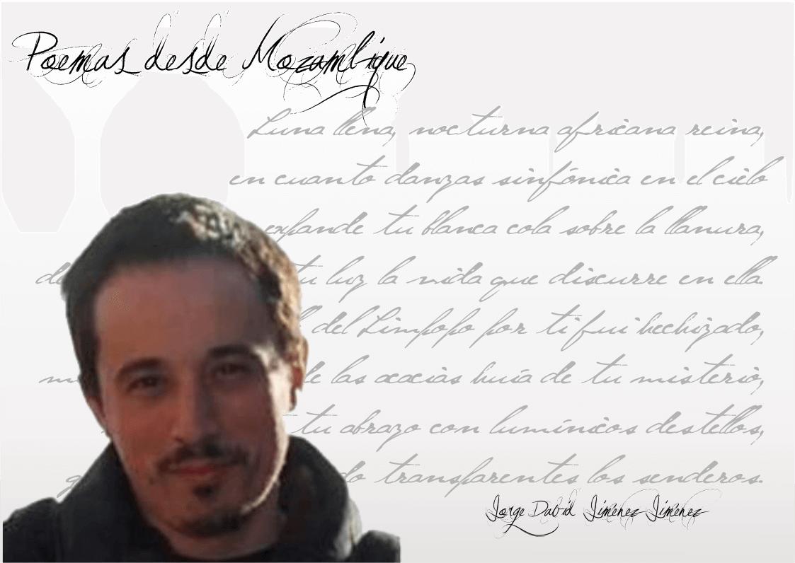 """Jorge David Jiménez Jorge David Jiménez: """"…la poesía siempre ha sido un vehículo social…"""" FichaJorgeDavid"""