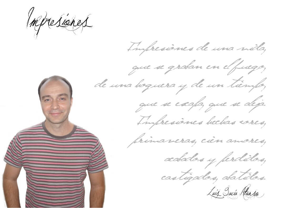 """Luis GarcÍa Alonso - Fichaautor - Luis García Alonso: """"Para mí la poesía es una especie de diálogo entre el mundo interior y el que nos rodea, que nos permite conocernos mejor como personas""""."""