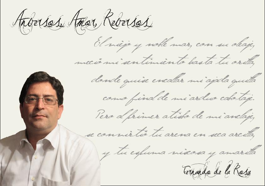"""Entrevista a Fernando de la Rosa cuentas pendientes Entrevista a Fernando de la Rosa: """"La Poesía es el arte de convertir un sentimiento propio en una emoción ajena"""". Entrevista FernandodelaRosa"""