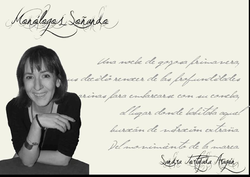 """Sandra Tortajada Aragón  Sandra Tortajada: """"Las palabras sólo son plagios de mi realidad"""" FichaAutor"""