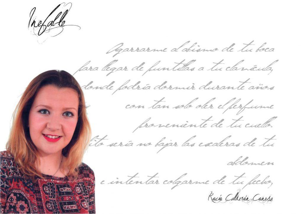 """Entrevista Rocío Calderón Conesa - Inefable rocío calderón conesa Rocío Calderón Conesa: """"…a veces comparo mucho la poesía con el piano o el violín, veo ambos instrumentos igual de indispensables para la armonización de la vida que una buena poesía"""". FichaRocioCalderon 1024x724"""