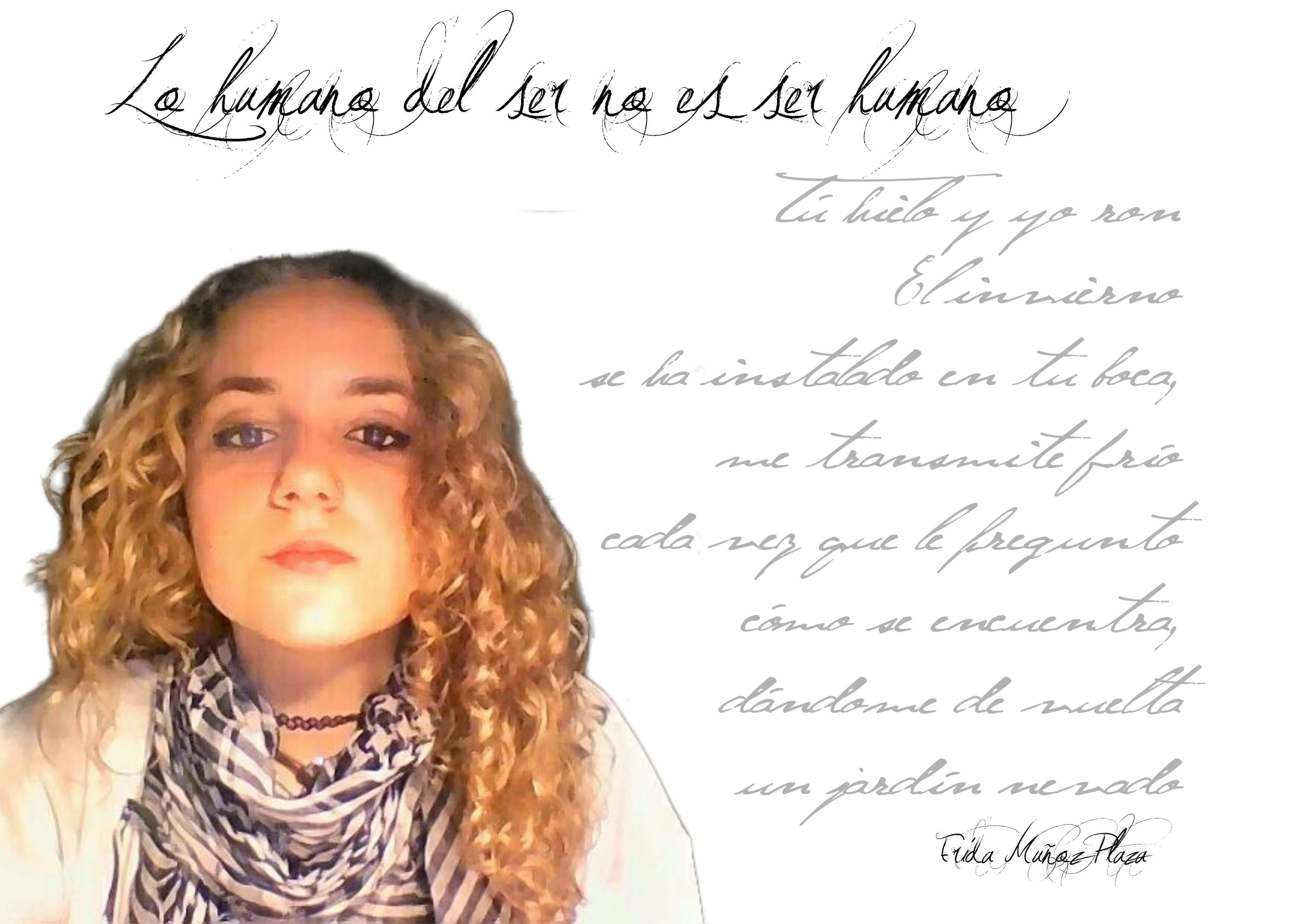 """Frida Muñoz Plaza: """"es ahora cuando el arte minoritario de la poesía está creciendo a una gran escala"""" FichaAutor revista de poesía Revista de poesía. Revista Poesía eres tú. FichaAutor"""