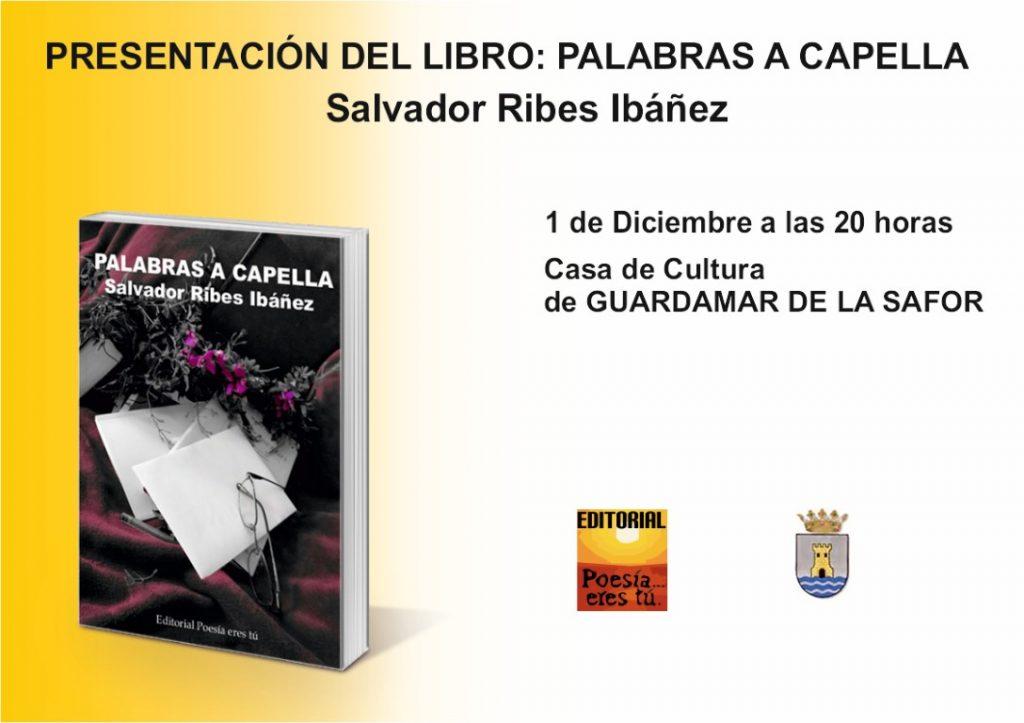 Presentación del libro: Palabras a capella en Guaredamae de la safor CartelGuardamardelasafor Medium 1024x723