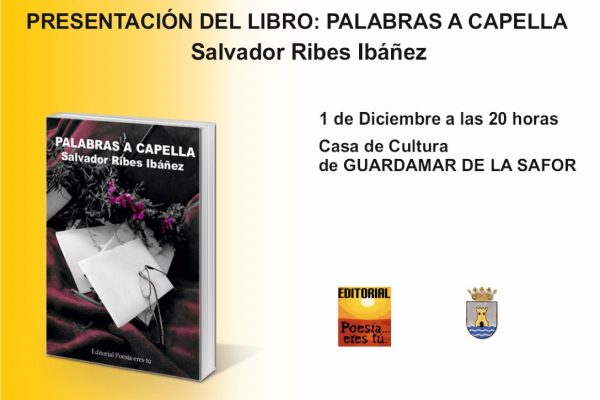 Presentación del libro: Palabras a capella en Guaredamae de la safor CartelGuardamardelasafor Medium 600x400