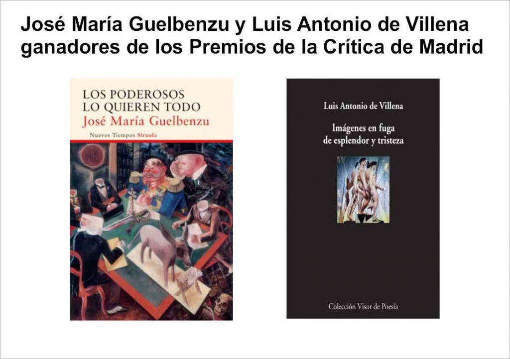 Premio de la críitica 2016 crítica de madrid - Premiodelacritica2016 1024x721 - José María Guelbenzu y Luis Antonio de Villena ganadores de los Premios de la Crítica de Madrid 2016
