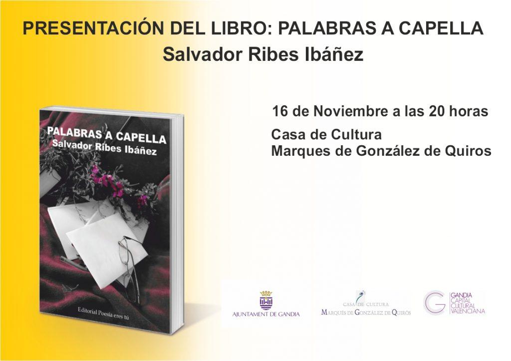 Presentación del libro Palabras a Capella en Gandía   PresentacionGandia 1024x723