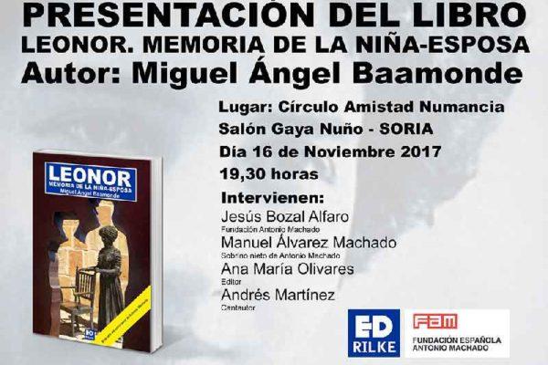 Presentación en Soria: Leonor. Memoria de la niña esposa. CartelPresentaci  nWeb 600x400
