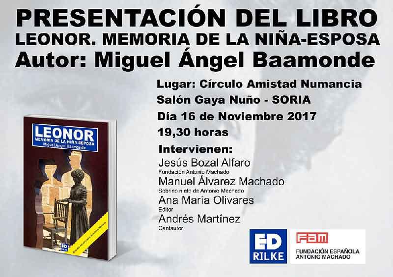 Presentación en Soria: Leonor. Memoria de la niña esposa. CartelPresentaci  nWeb