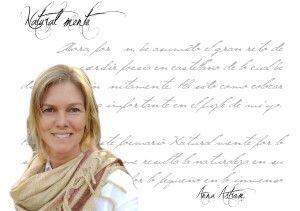 """Entrevista Anna Astrom anna astrom Anna Astrom: """"Para mí el pintar y el escribir son dos formas distintas, pero a la vez tan parecidas, de expresar con sensibilidad sentimientos…"""" FichaAutor Anna Astrom"""