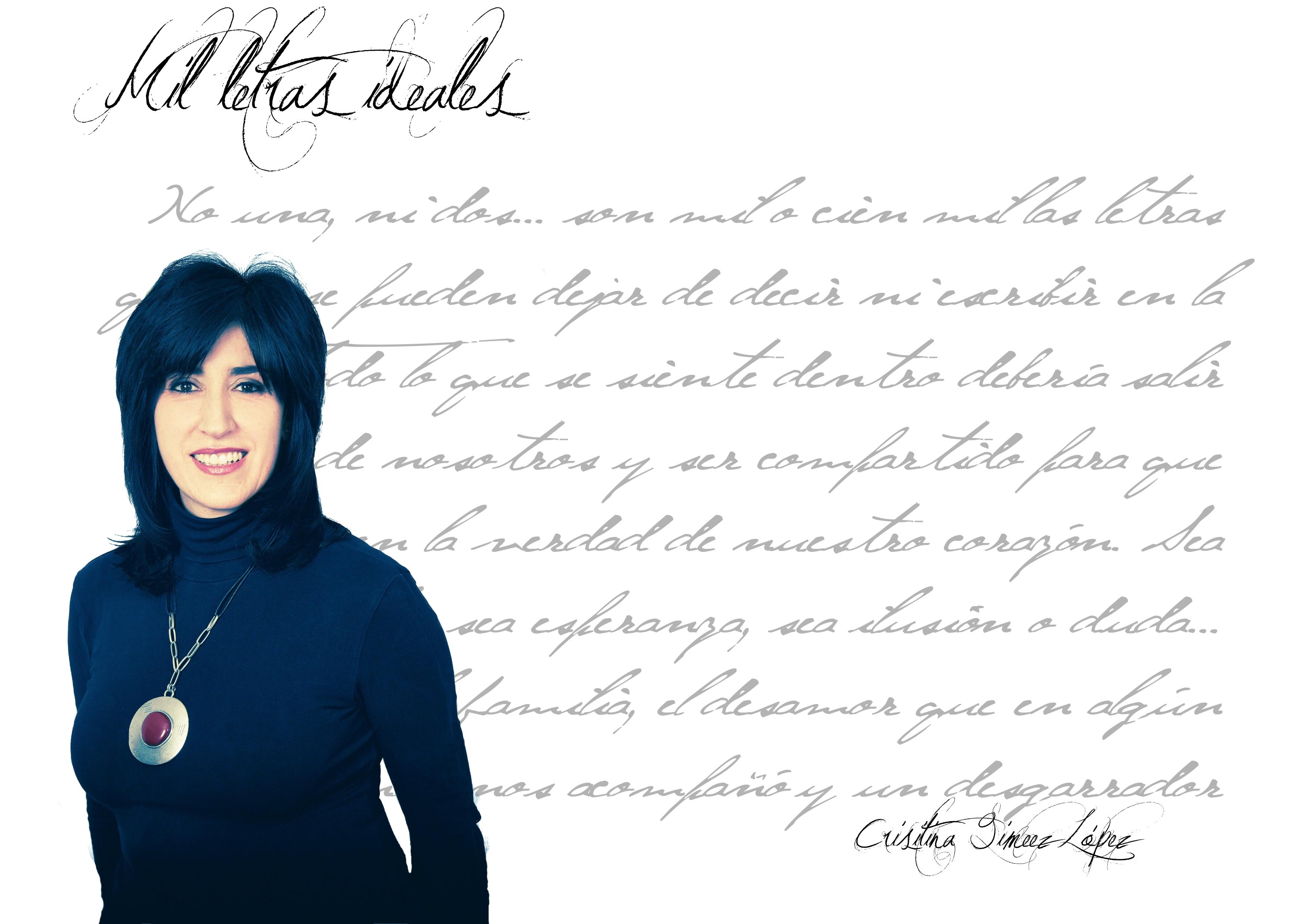 """Entrevista a Crisitina Gimenez Lopez cristina giménez lópez Cristina Giménez López: """"Una letra más otra son lo que decimos y lo que somos"""". FichaAutorCrisitinaGimenezLopez"""