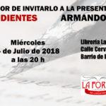 Invitación Poemas pendientes  Poemas pendientes: Miercoles 4 de Julio de 2018. Librería La forja de las letras. Invitacion210x95 150x150