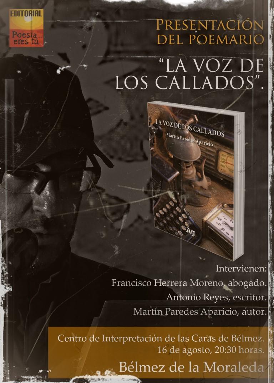"""- Cartel Mediano - Presentación del libro """"La voz de los callados"""" Belmez de la Moraleda revista de poesía - Cartel Mediano - Revista de poesía. Revista Poesía eres tú."""