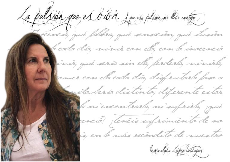 """inmaculada lópez verdeguer - FichaAutor Mediano 768x541 - Inmaculada López Verdeguer: """"Lo más maravilloso es poder elegir y tener ese discernimiento de lo que queremos en cada instante de nuestra vida."""""""