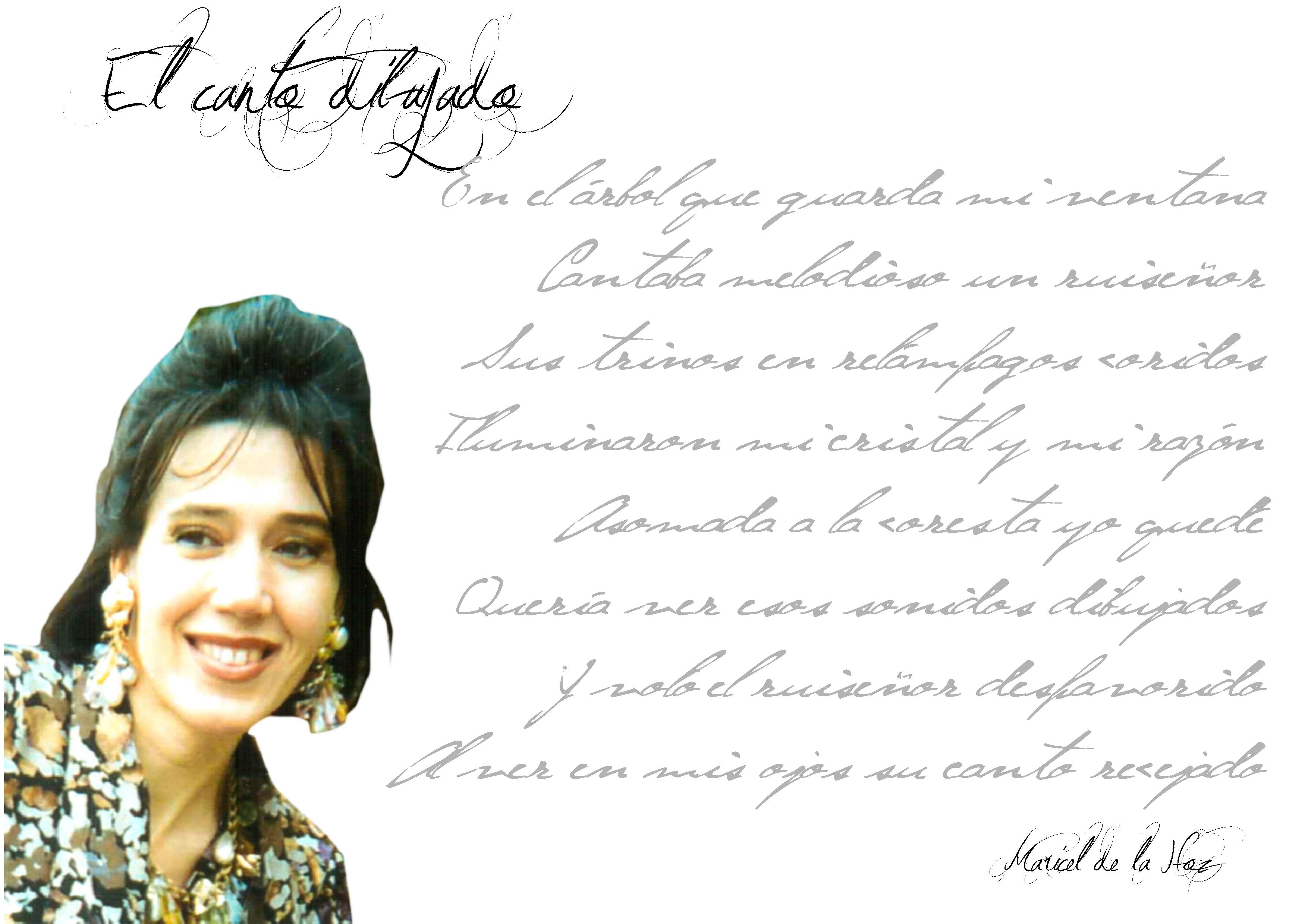 """maricel de la hoz - FichaAutor - Maricel de la Hoz: """"La poesía no es solo lo que se escribe, sino lo que dibuja en el corazón del que la lee""""."""