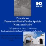 - CartelNANA 150x150 - Presentación de NANA A UNA MADRE de Martín Paredes Aparicio 1 de Febrero a las 12:30