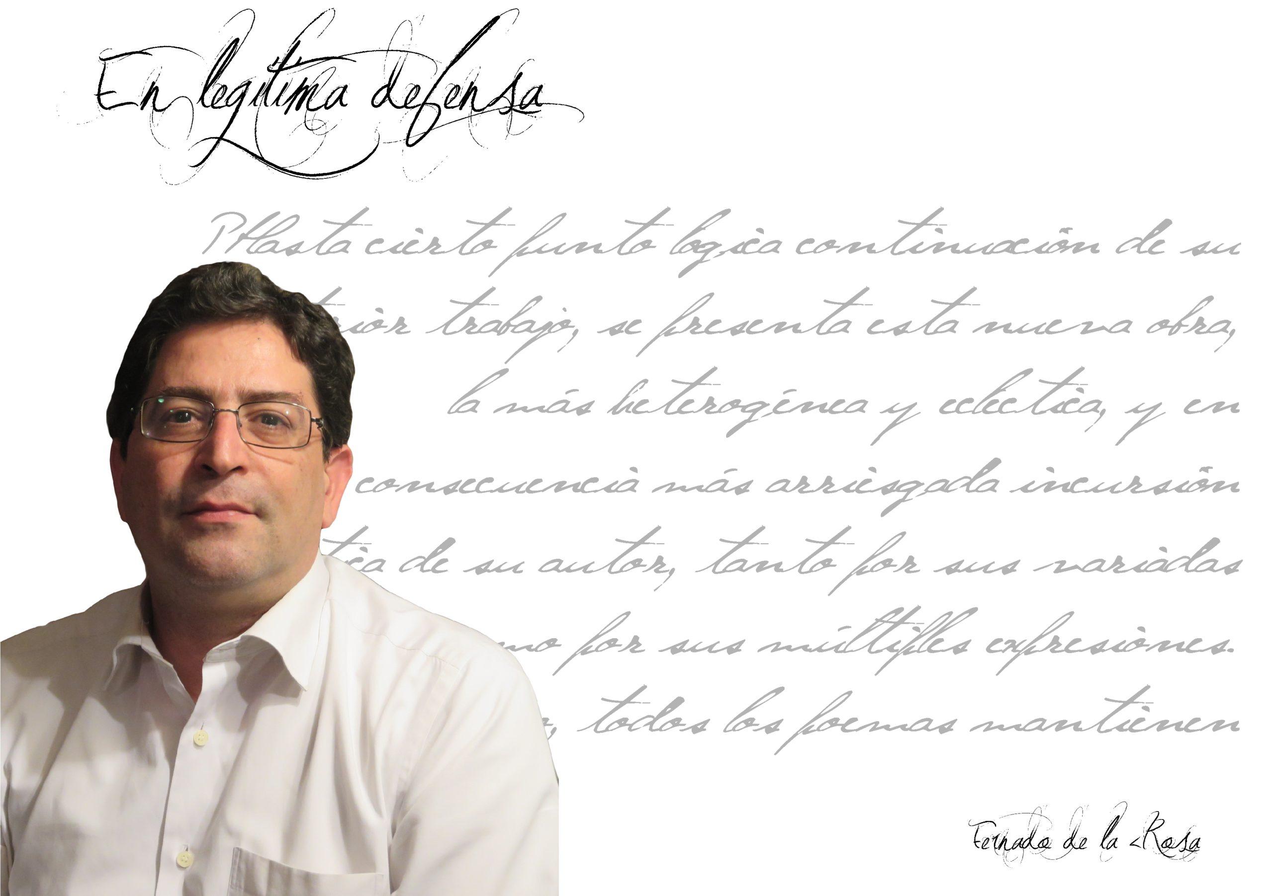 """fernando de la rosa - FichaAutor scaled - Fernando de la Rosa: """"Mis libros son la pura imagen de mis emociones"""""""