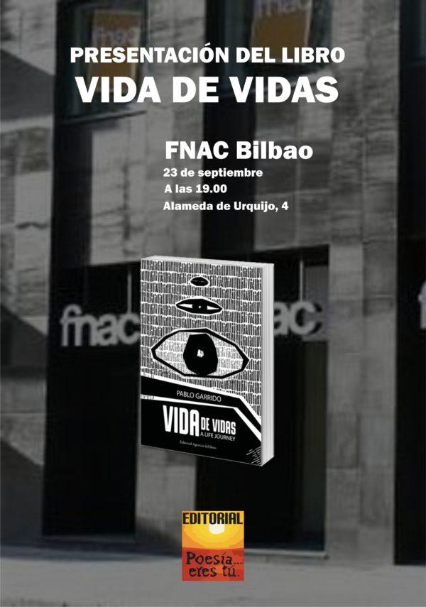 - Cartel Fnac Vidadevidas 600x855 - ACTOS Y PRESENTACIONES DE VIDA DE VIDAS DE PABLO GARRIDO