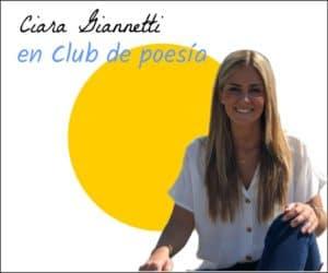 Ciara Giannetti en club de poesia